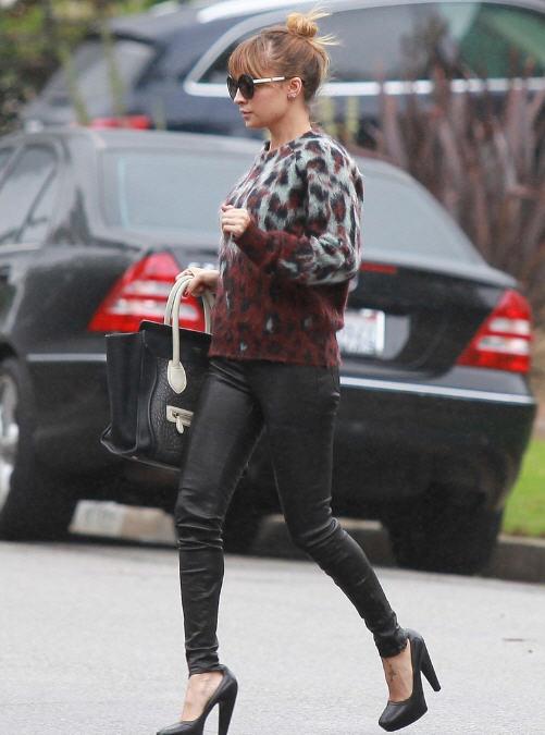nicole-richie-west-hollywood-balenciaga-leopard-sweater-celine-bag