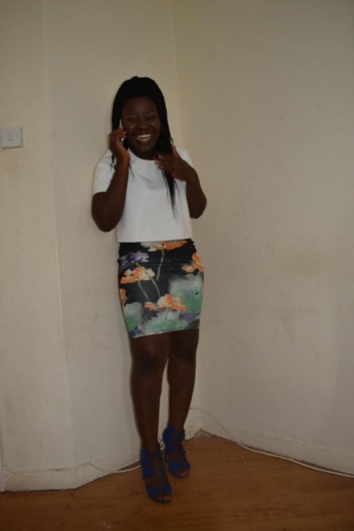 watercolour skirt